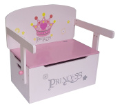 Bebe Style 3in1 Princess Convertible Toy Box + Bench & Table + Chair