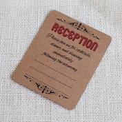 20 x Brown Rustic Wedding Reception Invitations by All-Ways Design
