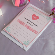 20 x Lovely Glossy Candy Wedding Invitations with Envelopes by All-Ways Design