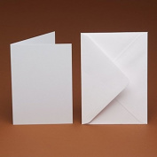 A6 Blank White Hammer Cards and smooth C6 Envelopes