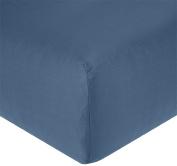 Garnier-Thiebaut Fitted Sheet 180 x 200 cm, Cotton, Dark Blue Denim