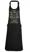 Life Begins At 60 APRON 60th Born in 1958 The year of Legends Birthday Gift BBQ GRILL Kitchen Cooking Chef
