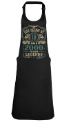 Life Begins At 18 APRON Born in 2000 The year of Legends Birthday Gift BBQ GRILL Kitchen Cooking Chef