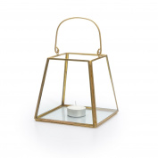 Black Velvet Studio Lantern Retro Transparent / Gold colour Nordic and retro style Glass/metal 13x9x13 cm