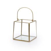 Black Velvet Studio Lantern Retro Transparent / Gold colour Nordic and retro style Glass/metal 11x10x10 cm