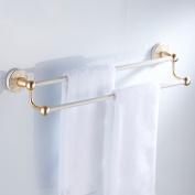 European Style White Towel Rack Space Aluminium Items Placed Shelves Towel Lever Modern Simplicity