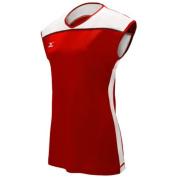 Mizuno Women's Balboa 2.0 Cap Sleeve Jersey, X-Large, Red/White