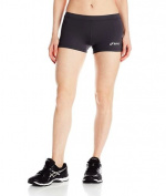 Asics - Womens Low Cut Athletic Shorts, Medium, Steel Grey