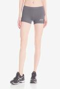 Asics - Womens Low Cut Athletic Shorts, X-Large, Steel Grey