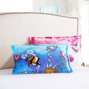 Pillowcases,Pillowcover, adult flannel pillowcase student by black velvet pillow cover single coral fleece pillow-L 48x74cm