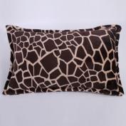 Pillowcases,Pillowcover,[Coral velvet pillowcase] Thick warm winter super soft solid colour flannel pillowcases and coral fleece pillowcase Single cover-E 46x75cm