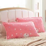 Pillowcases,Pillowcover, adult flannel pillowcase student by black velvet pillow cover single coral fleece pillow-J 48x74cm