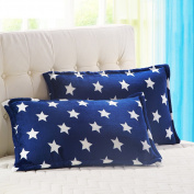 Pillowcases,Pillowcover, adult flannel pillowcase student by black velvet pillow cover single coral fleece pillow-C 48x74cm