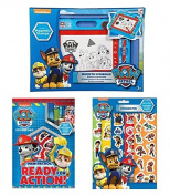 Paw Patrol Toys Bundle - Magnetic Scribbler (Medium), Sticker Pad & Stickers