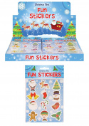 36 Packs of Christmas Fun Stickers - Great Stocking Filler, Party Bag Filler or Favour