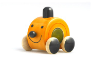 Moee – handcrafted wooden push toy coloured with natural dyes