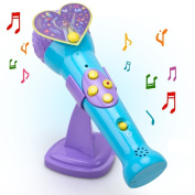 Kid Electronic Musical Microphone Toys - Hanmun 2017 New Toddler Voice Change Toy with Recording ,Music