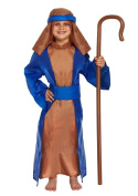 Childrens Shepherd Nativity Christmas Fancy Dress Costume Age 4-6