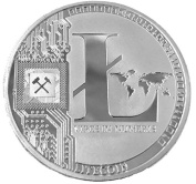 Litecoin LTC Physical Silver colour, Perfect As A Christmas Gift