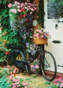 "Heidi Heidi4166 ""Bicycle and Flowers"" Art Puzzle"