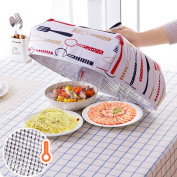 Folding Lid Cover Keep Foods Warm Vegetable Cover Container Aluminum Foil Dishes Heat-Insulation Kitchen Gadgets L Size