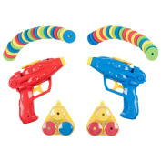 Invero® Twin Pack Disc Shooter with 48 Soft Foam Discs Ideal Fun for all Children's Kids or Gift to Friends and Family