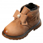 VNEIRW_Baby Winter Martin Baby Shoes,VNEIRW Newborn Infant Toddler Kids Baby Boys Girls Children Fashion Autumn Winter Thick Warm Leather Sneaker Non-slip Anti-slip Soft Sole Booties Snow Boots