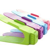 Fayear 3pcs Plastic Shoes Storage Rack Shoe Organiser Holder Home Accessory(Send by Random Colour)