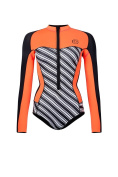 GlideSoul Women's Vibrant Stripes Collection 0.5 mm Spring Suit with front zipper