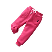 Wawer Winter Warm Kids Daily Thick Lined Long Cartoon Pants Baby Girls Boys Cotton Stretch Leggings Trousers
