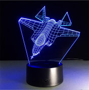 Lh & Fh Aircraft Colourful 3D Creative Touch Stereo With 5 Colour Change Desktop Lamp Energy-saving LED Lights