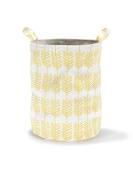 Roomblush Large Storage Basket 40 x 50 cm Yellow with Feathers for Boys and Girls Nursery Minimalischtes Design New RB0021