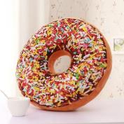 WYQLZ Creative Simulation 3D Donuts Hold Pillow Cartoon Lovely Home Office Sofa Nap Cushion 40cm