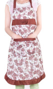 TININNA Cute Vintage Flower Floral Pattern Bowknot Apron Cooking Cook Apron with Pockets for Women Girls Coffee