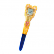 Pu Ran Child Electronic Ballpoint Pen Virtual Cyber Digital Pet Retro Game Toy - Orange