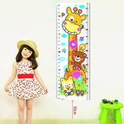 ZHUOTOP Cartoon Animals Baby Child Growth Height Measurement Chart Wall Sticker
