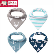 4 Baby Triangular Bandage Bib Burp Cloths with Poppers Multifunctional (from Future Founder