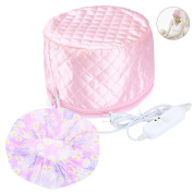 Pretty See Hair Steamer Cap Practical Beauty Steamer Nourishing Hat Durable Hair Thermal Treatment Cap with 3 Mode Temperature Control, Suitable for Hair Styling and Hair Thermal Treatment, Pink