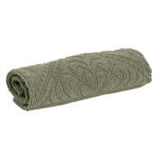 Enzo VIVARAISE Bath Mat Plain Khaki Cotton 110x54 cm
