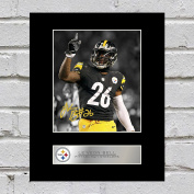 Le'Veon Bell Signed Mounted Photo Display Pittsburgh Steelers