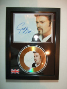 george michael signed gold disc 5
