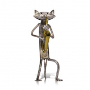 Tooarts Metal Sculpture Figurine Statue Ornament Crafts Cat