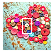 Bright Buttons Vinyl Light Switch Cover Sticker
