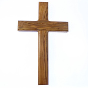 """8"""" 20cm solid genuine olive wood wall hanging cross Christian gift hand carved"""