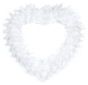 "Decorative Heart ""Feather"" in White, Great Decoration For Wedding"