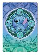 Ohana Stained Glass - Blue. Metal Wall Sign Plaque Wall Art Inspirational. Lilo Stitch