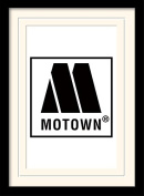 """Motown """"Logo"""" Mounted and Framed Print, Multi-Colour, 30 x 40 cm"""