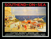 "National Railway Museum ""Southend-on-Sea (2)"" Framed Print, Multi-Colour, 30 x 40 cm"