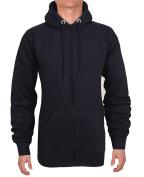 Men Zipper Hoodies Boys Plain Fleece Warm Sports Sweatshirt Jumper Jacket Top In All Size