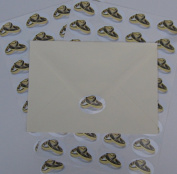 Entwined Wedding Ring Stickers - wedding and engagement invitation envelope seals